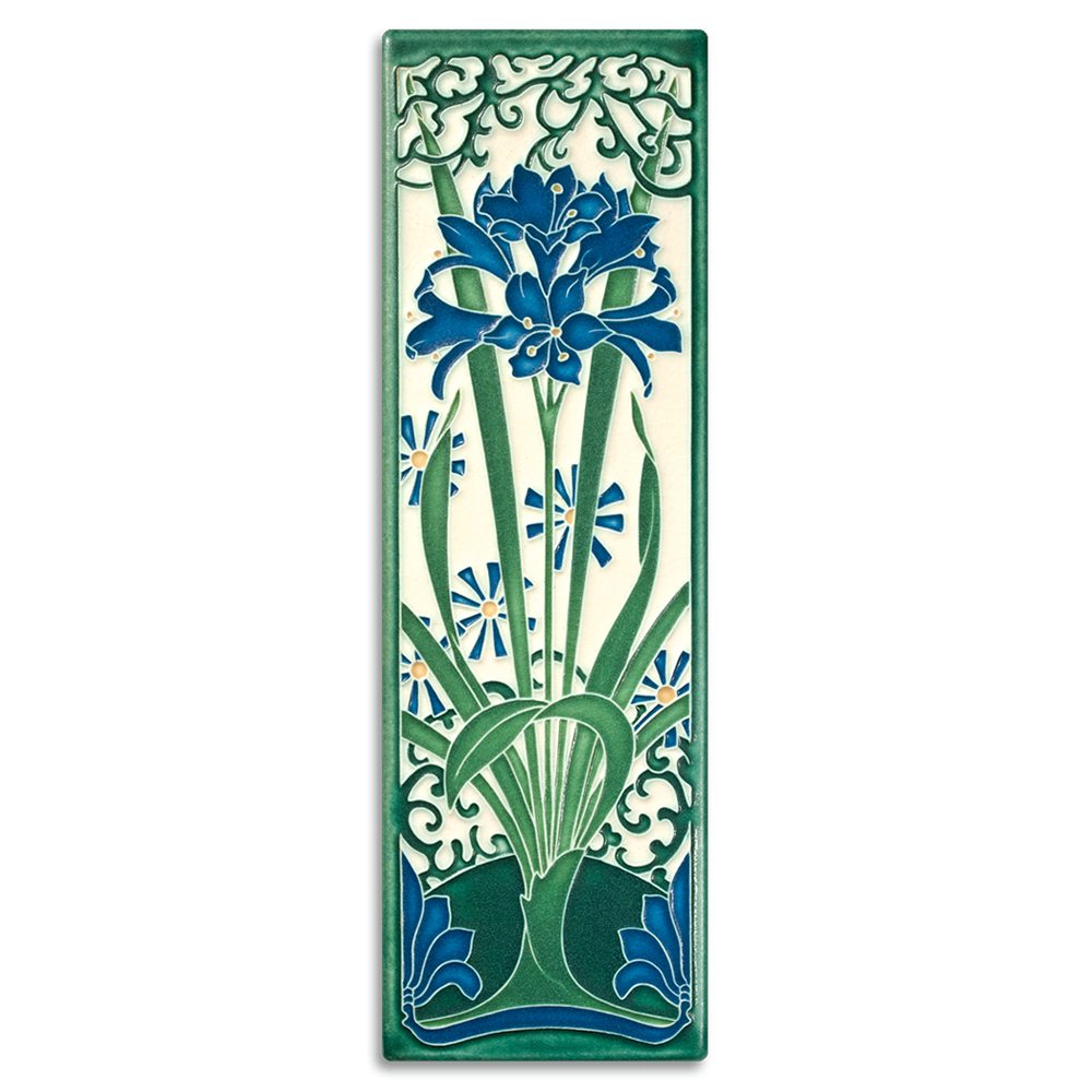 Amaryllis Tile in China Blue