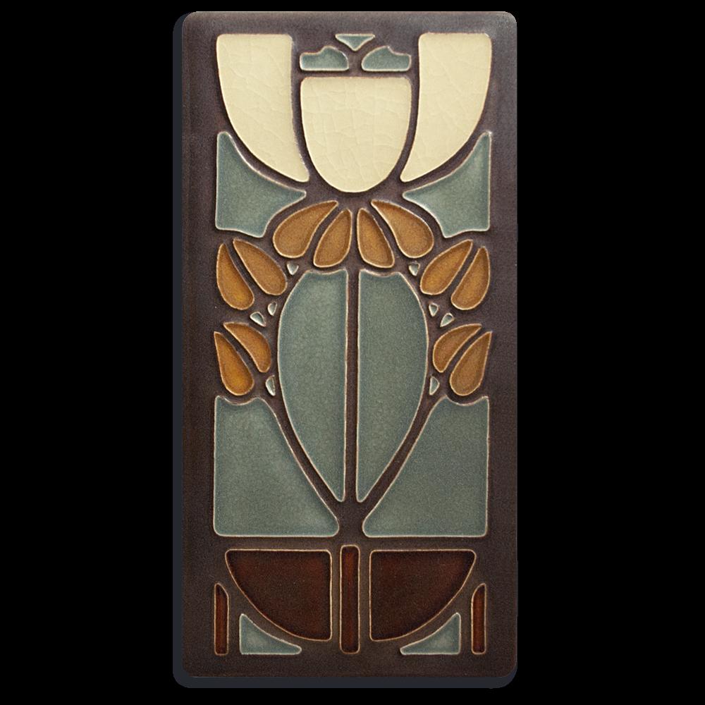 Bell Flower 4x8 Tile in Stone