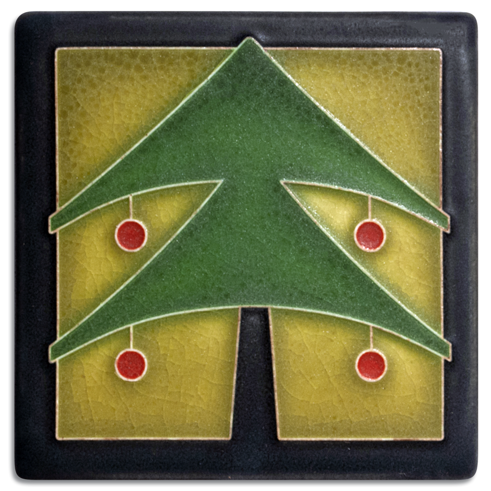 Christmas Tree 4x4 Tile in Green