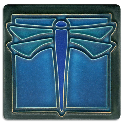 Dragonfly 4x4 Tile inTurquoise