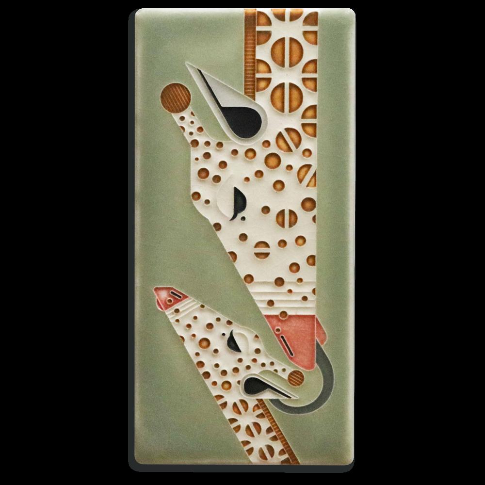 Sage Giraffe and a Half 4x8 Tile