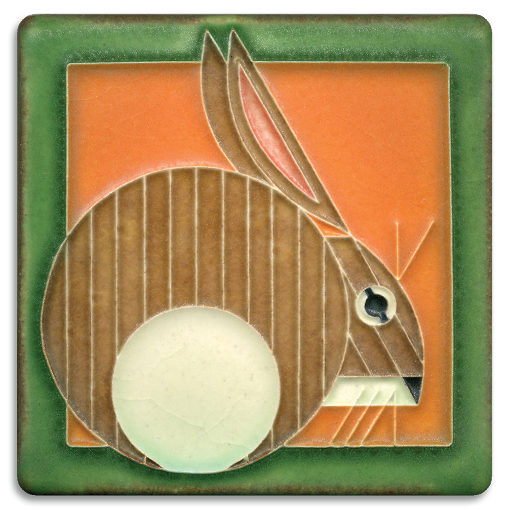 Hare 4x4 tile in Carrot
