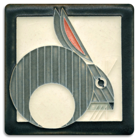 Hare 4x4 tile on Gray