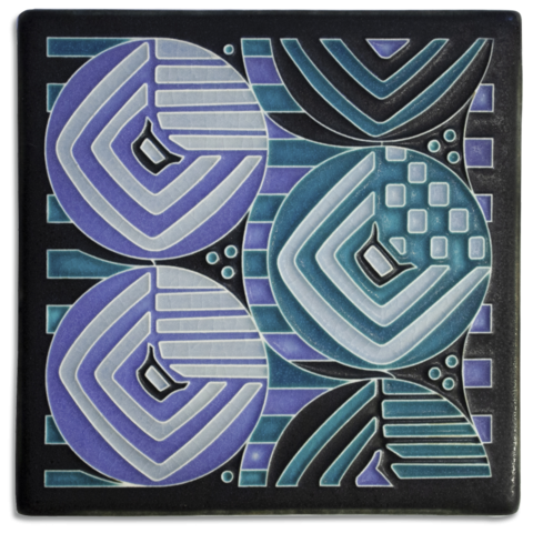 Margaret 6x6 Tile in Turquoise