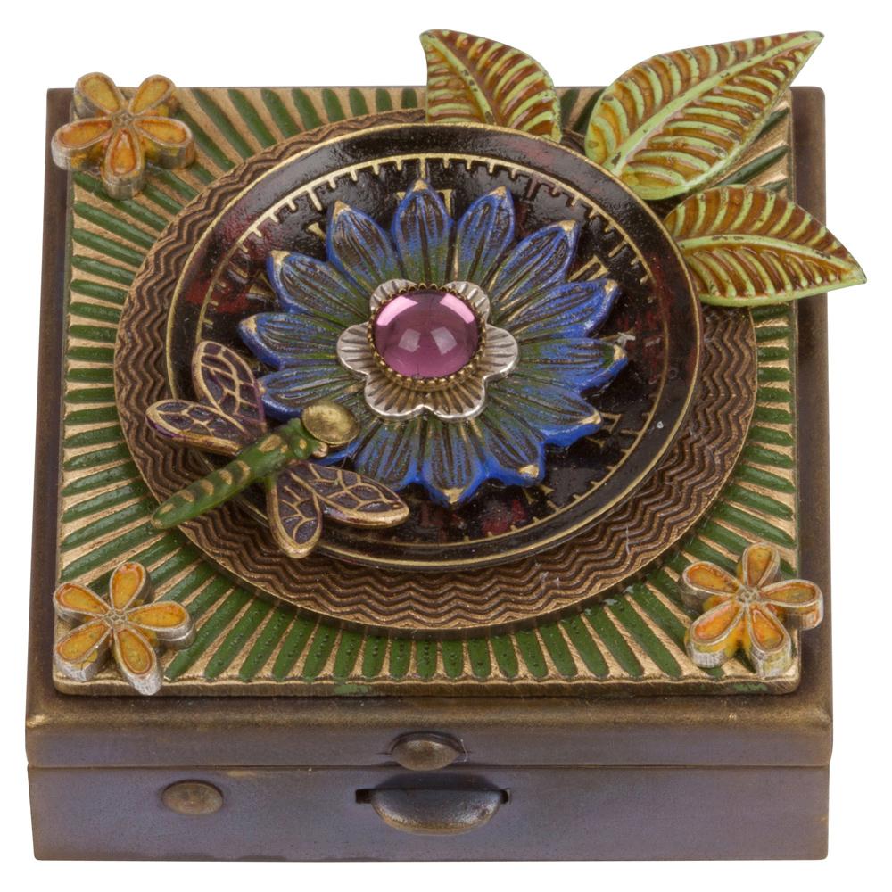 Blue Flower & Dragonfly Box