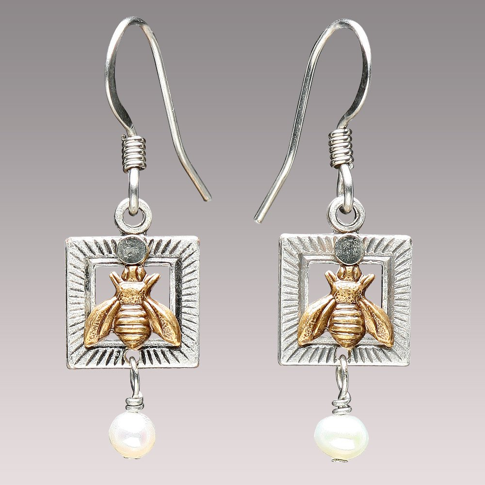 Bee Pearl Earrings