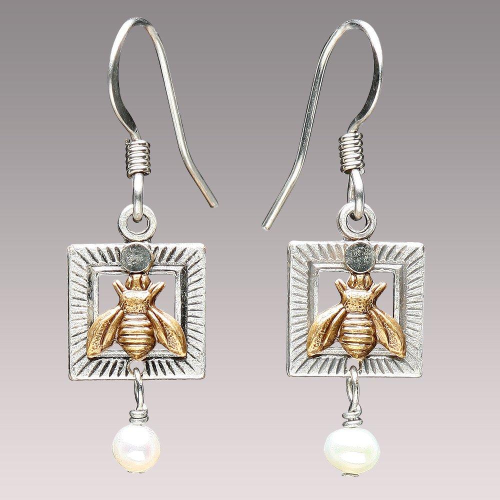 Bee Pearl Earrings