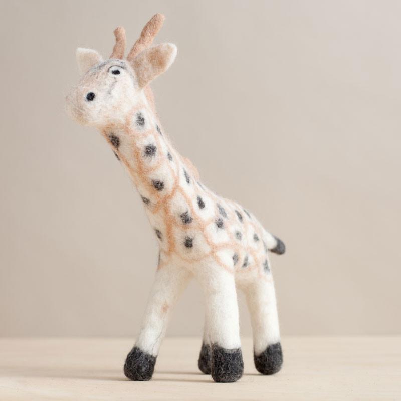 Hand Felted Giraffe