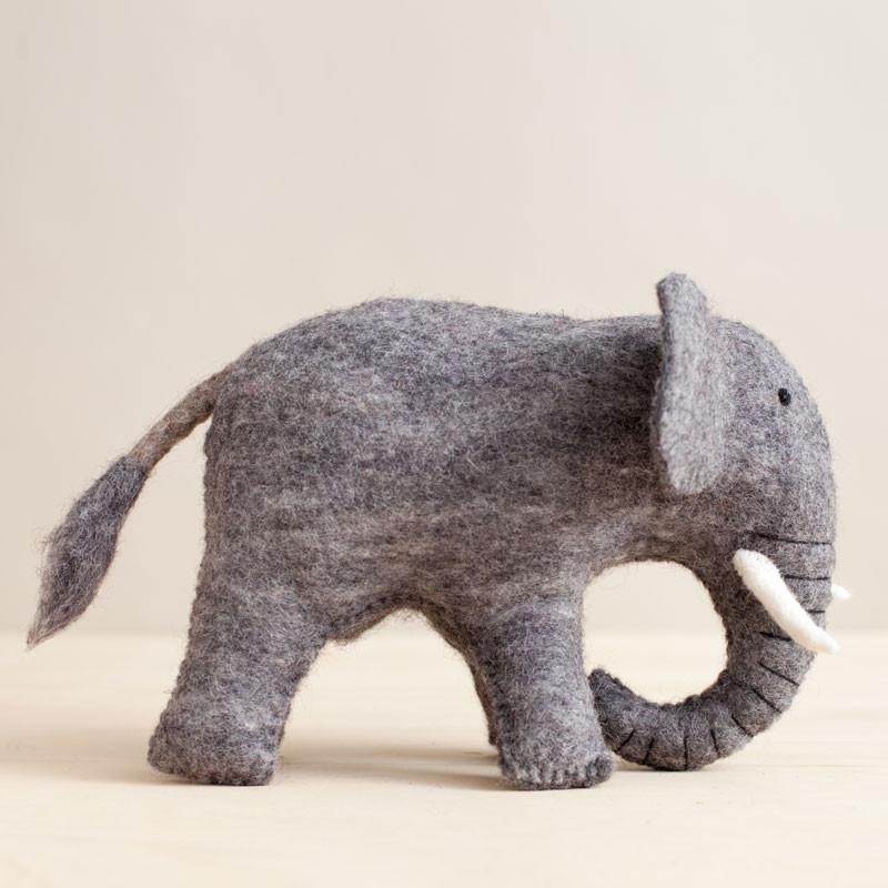 Jumbo Felted Elephant