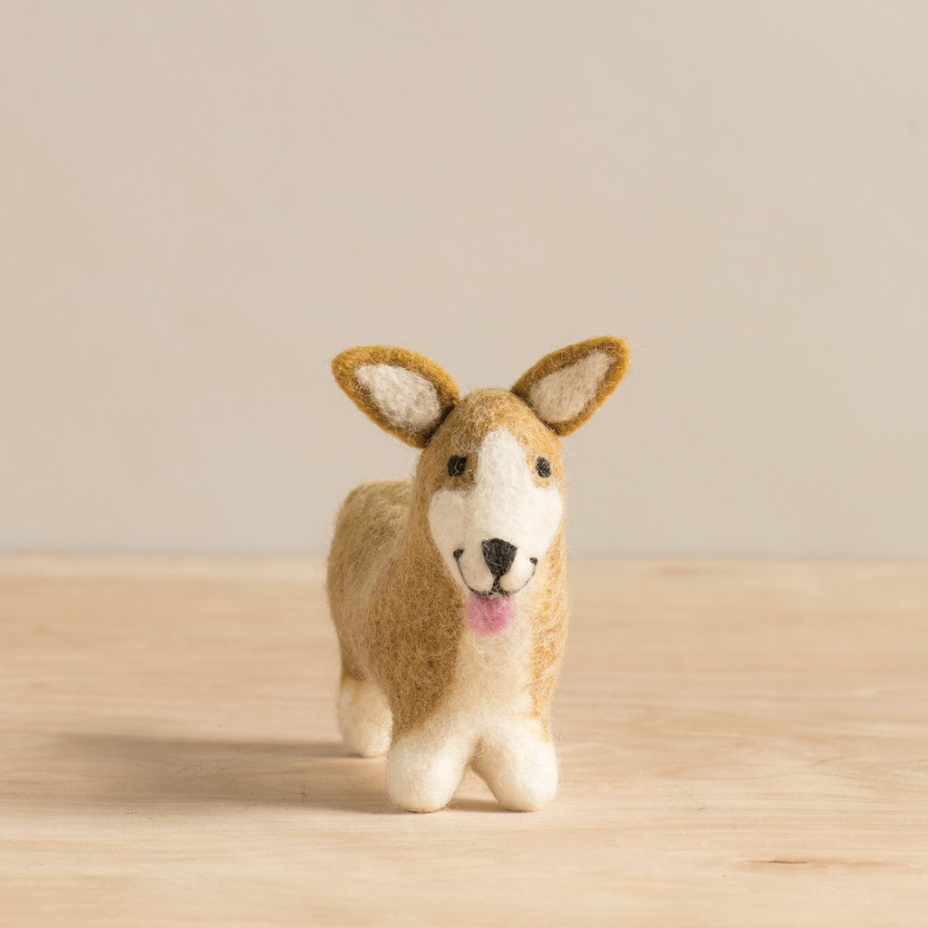 Felted Corgi Puppy