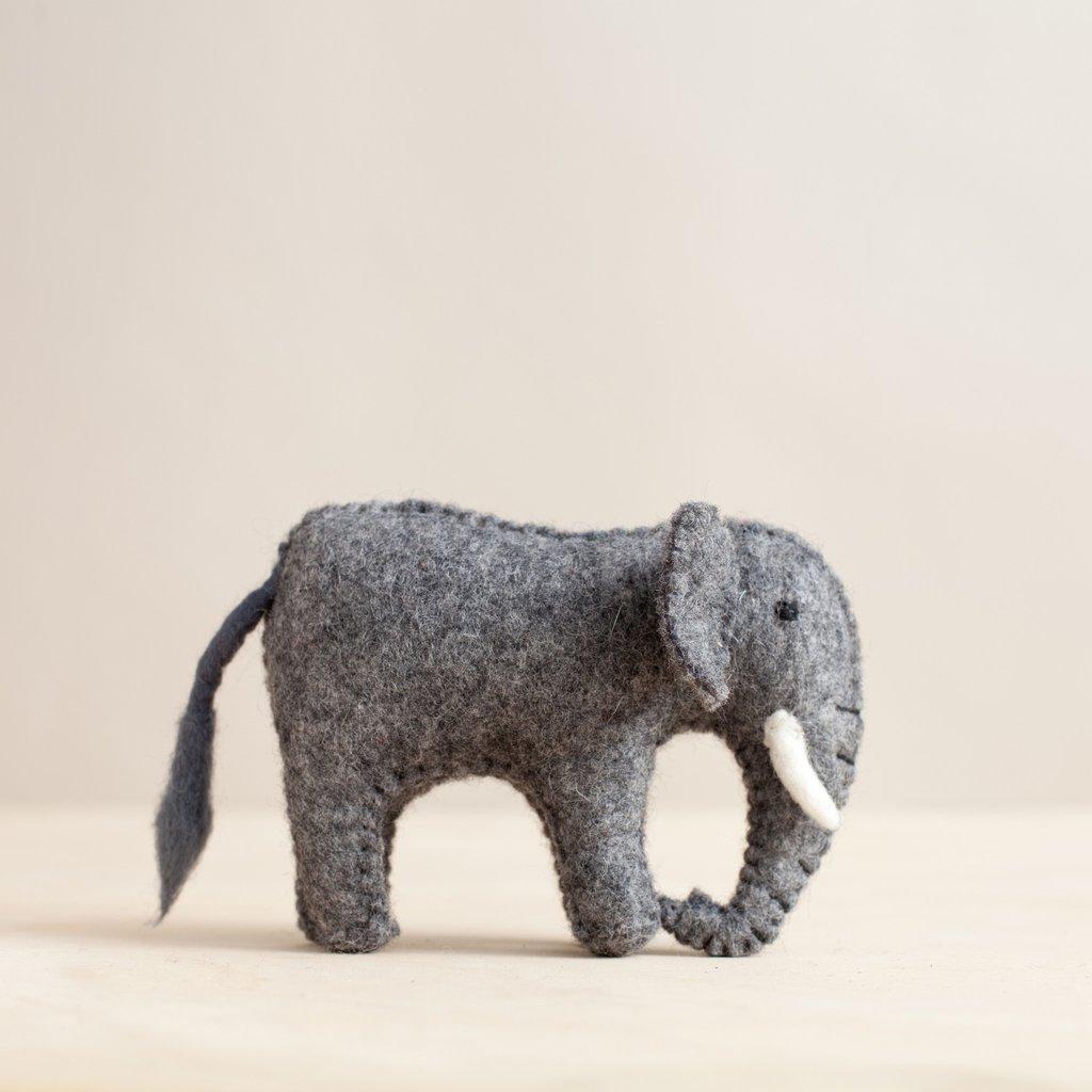 Lg Felted Elephant