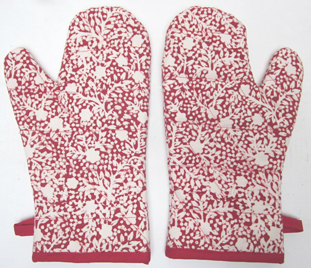 Holiday Oven Mitt Set/2
