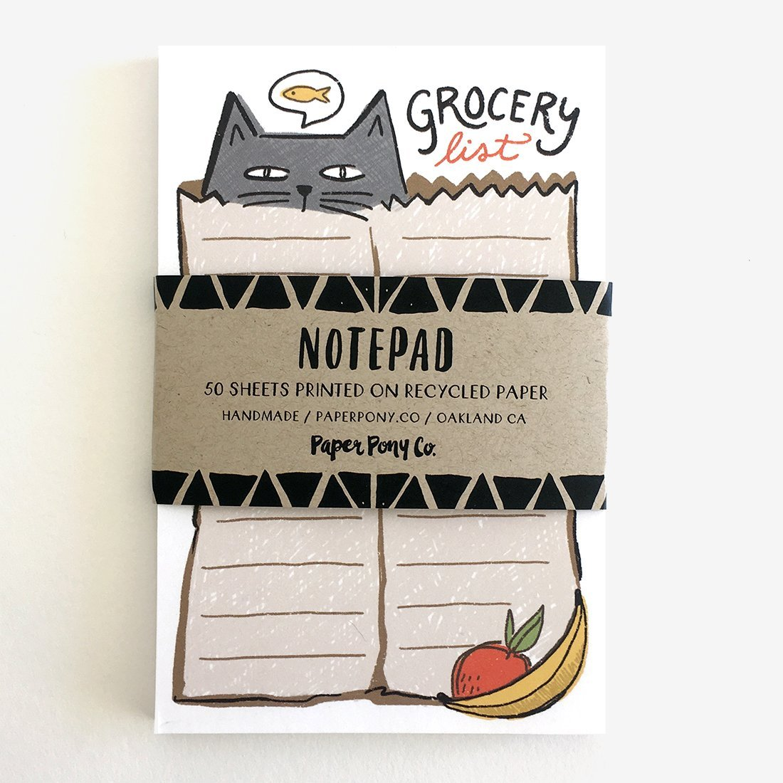 Bagged Cat Grocery List Notepad