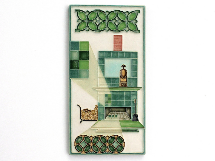 Fireplace Tile in Green