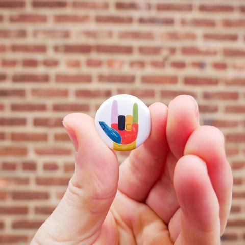 Mini 2017 Women's March PinCause Button