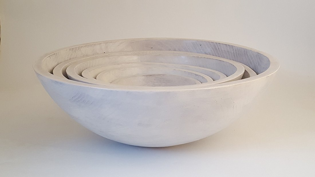 15 Oak Milk Paint Bowl