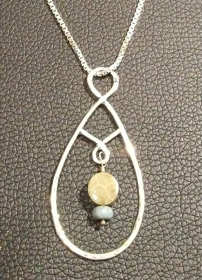 Petoskey Stone & Leland Blue Necklace