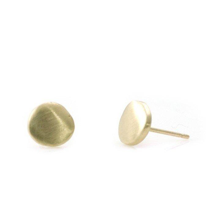 14k Disc Post Earring