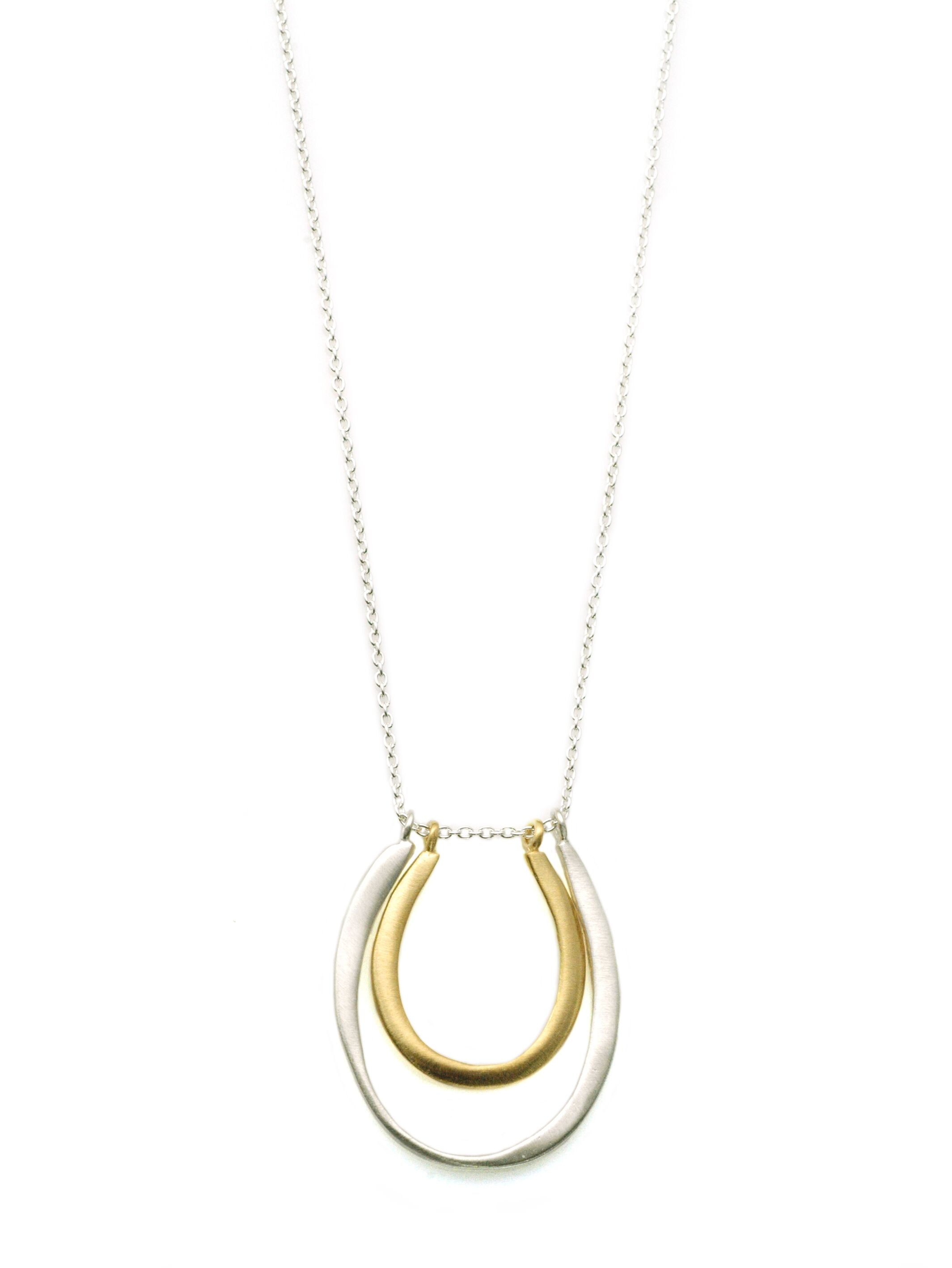 Double U Sterling & Vermeil Necklace