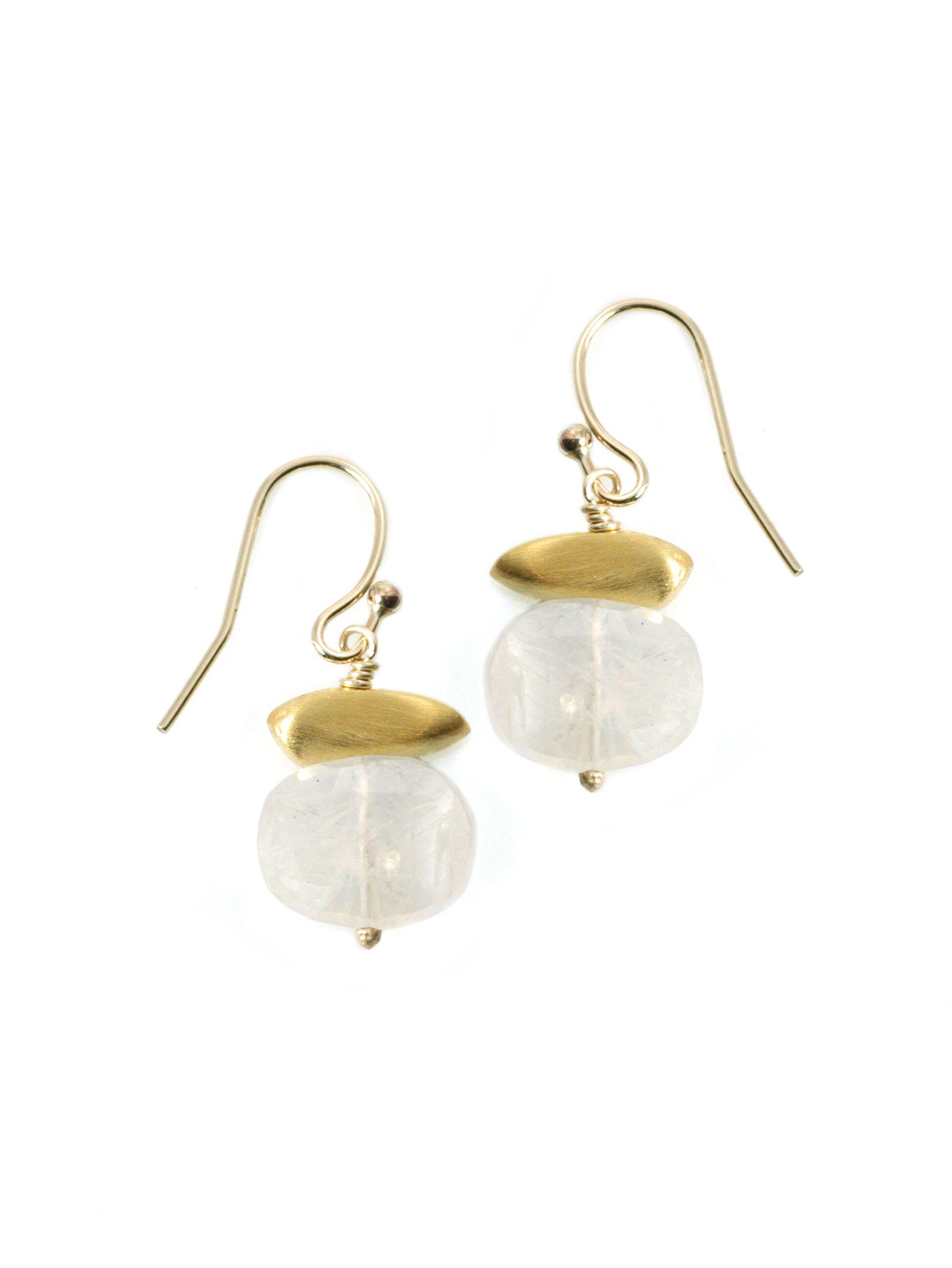 Peb Moonstone Vermeil Earrings