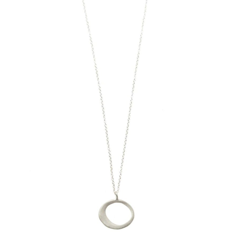 Small Sterling Circle Necklace