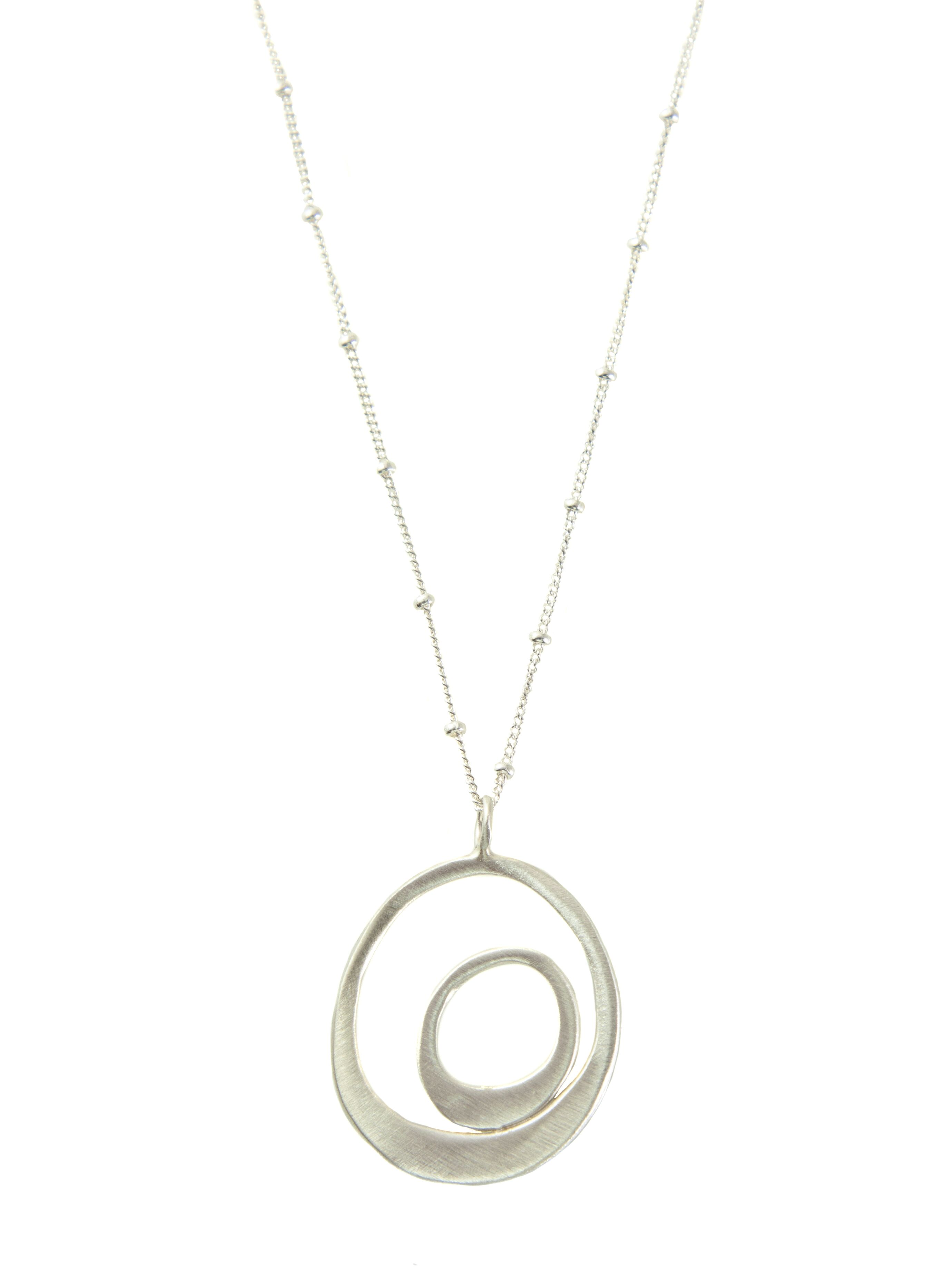 Inside Circle Sterling Silver Necklace