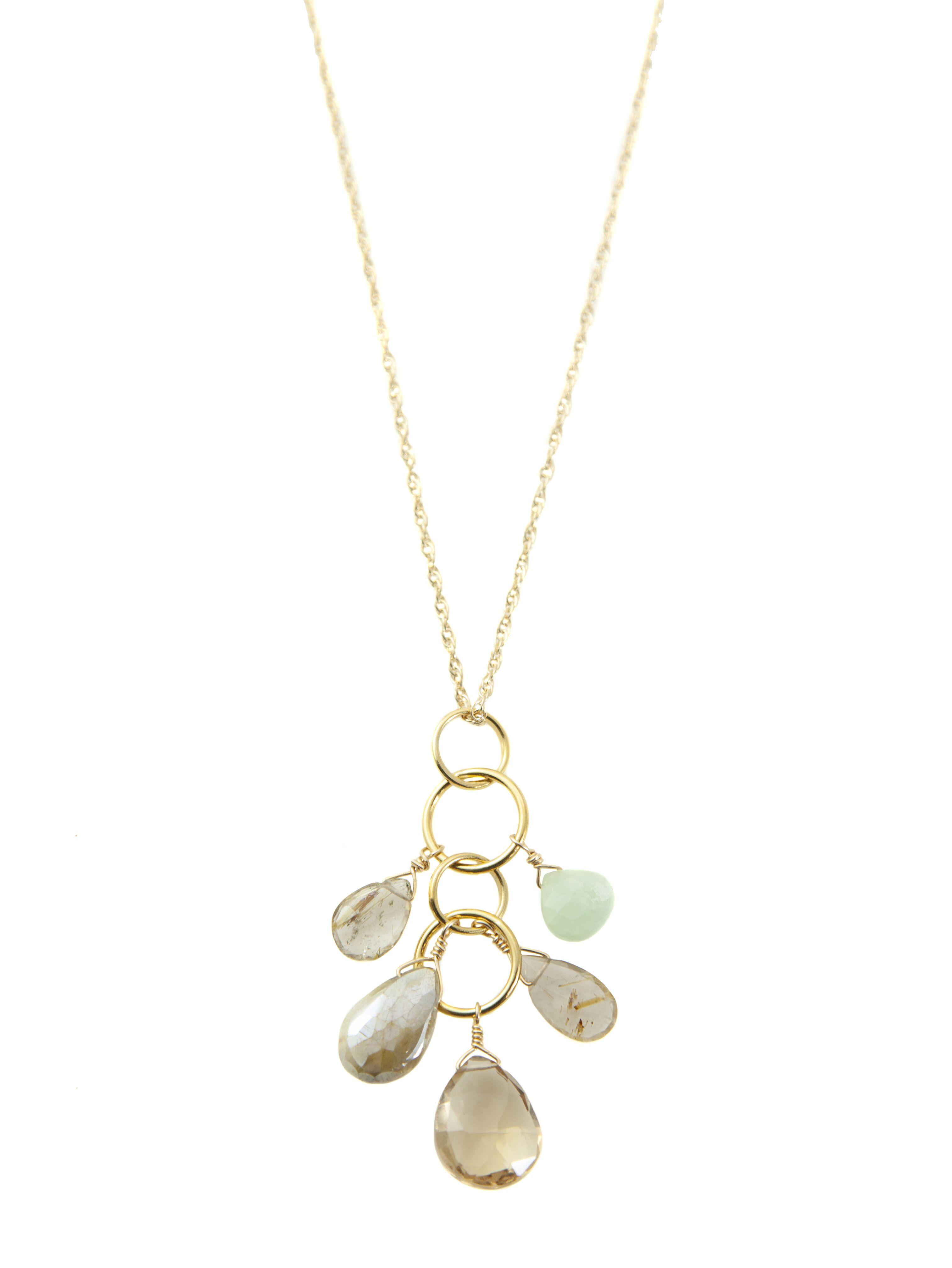 Aqua & Quartz Vermeil Necklace
