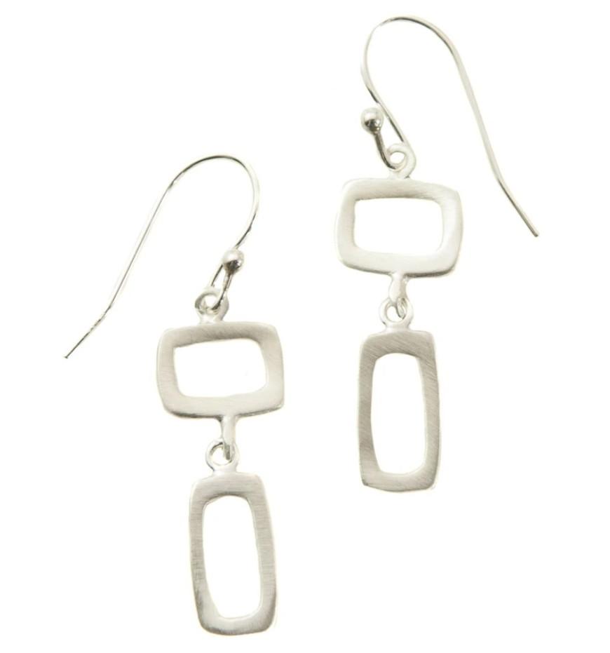Sterling Square/Rectangle Earrings