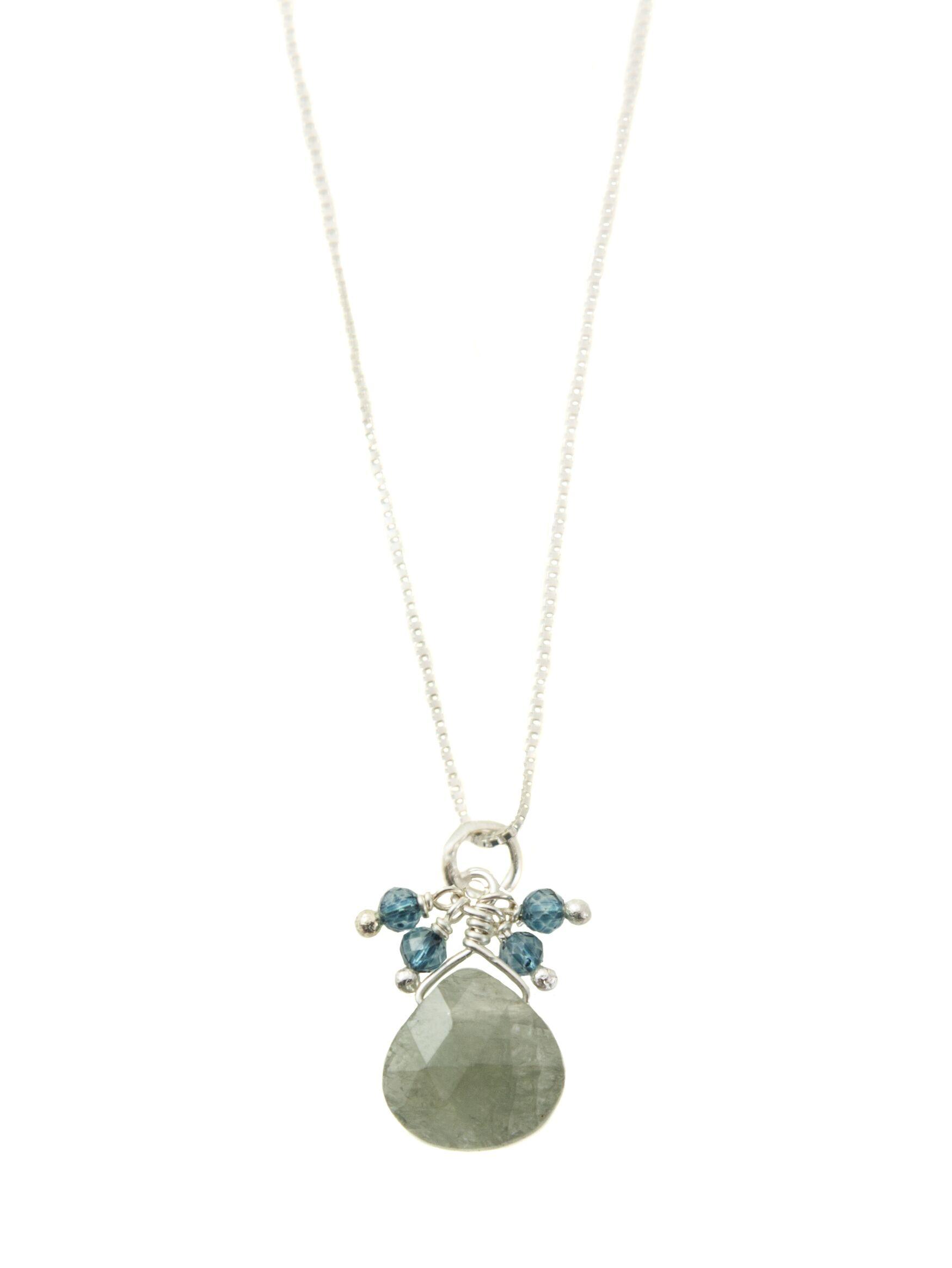Apatite & Aqua Sterling Silver Necklace