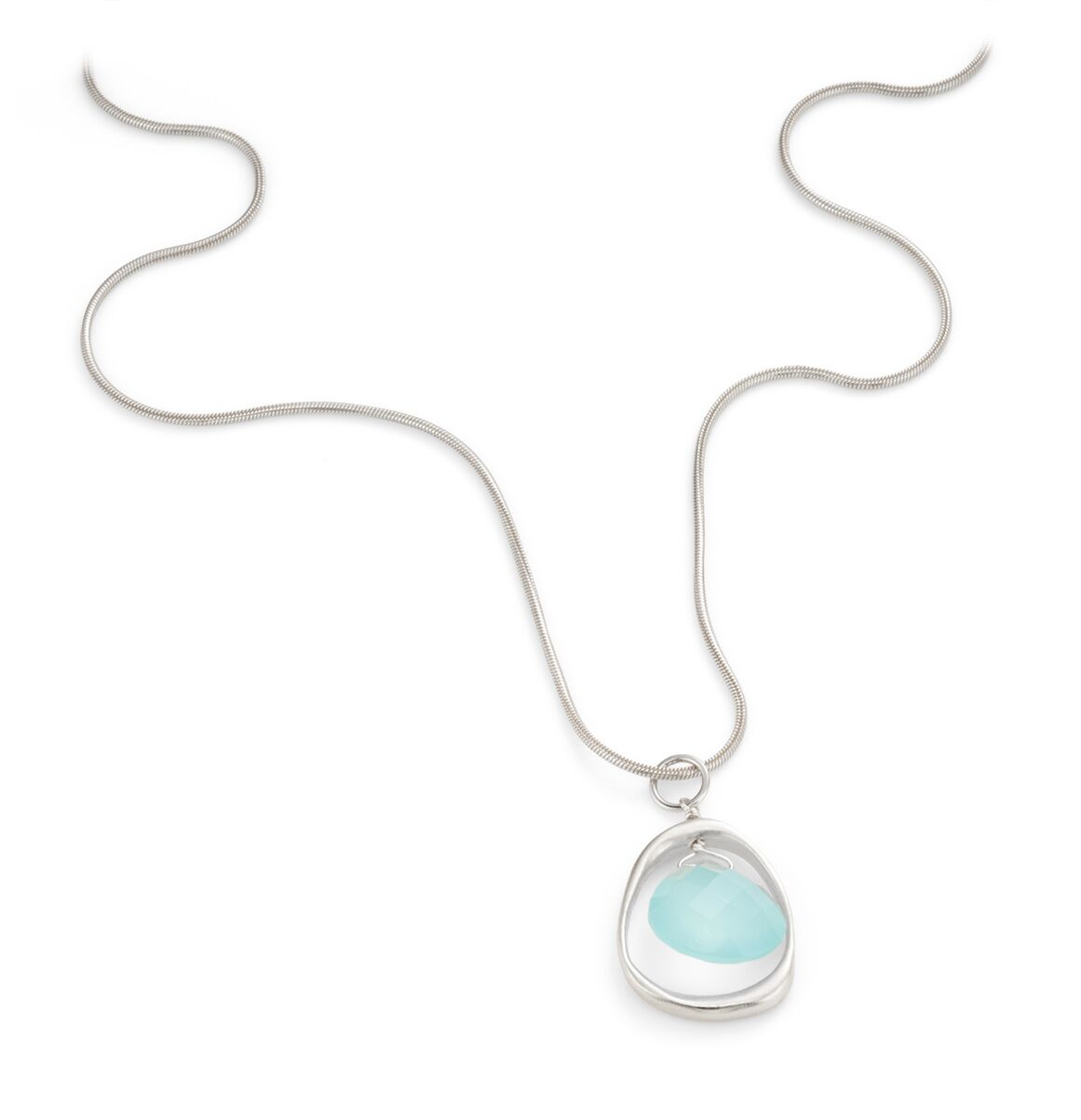 Open Circle Chal Silver Necklace