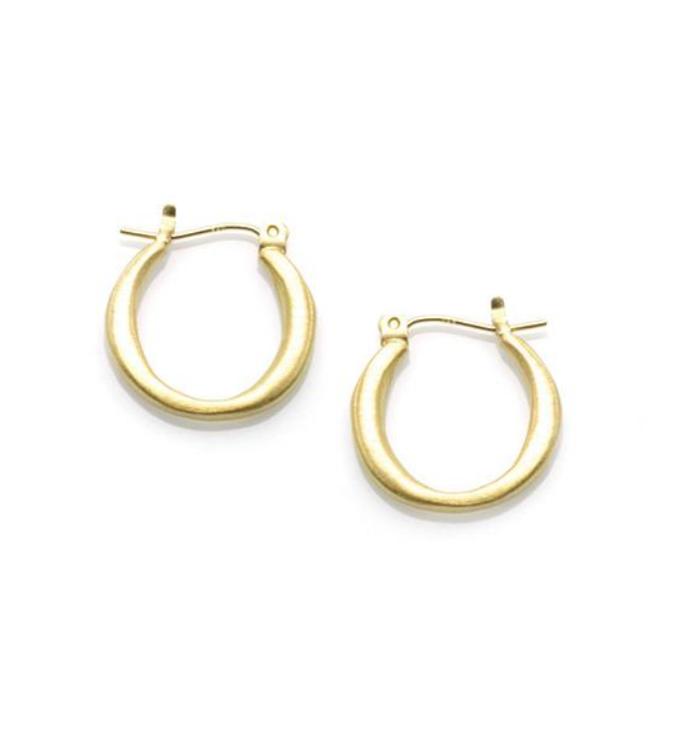Sm Round Hoop Vermeil Earrings