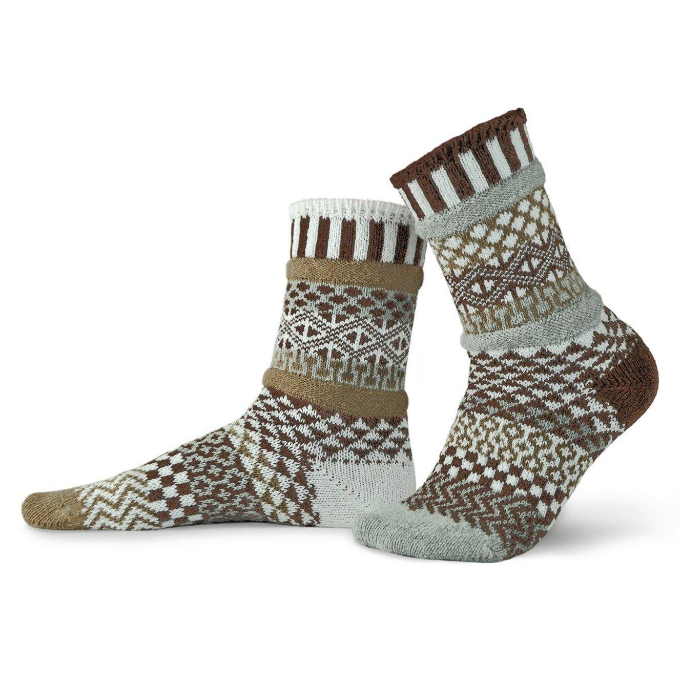 Pine Cone Adult Crew Socks