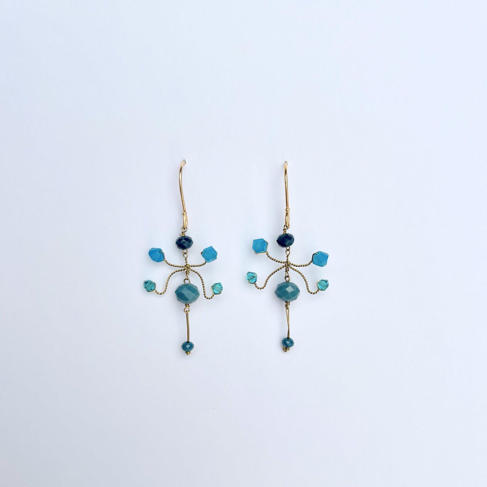 Blue Green Kite Earring