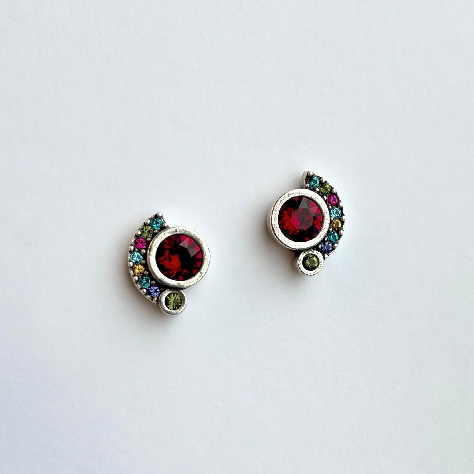 Zsa Zsa Post Earrings in Fling/Silver