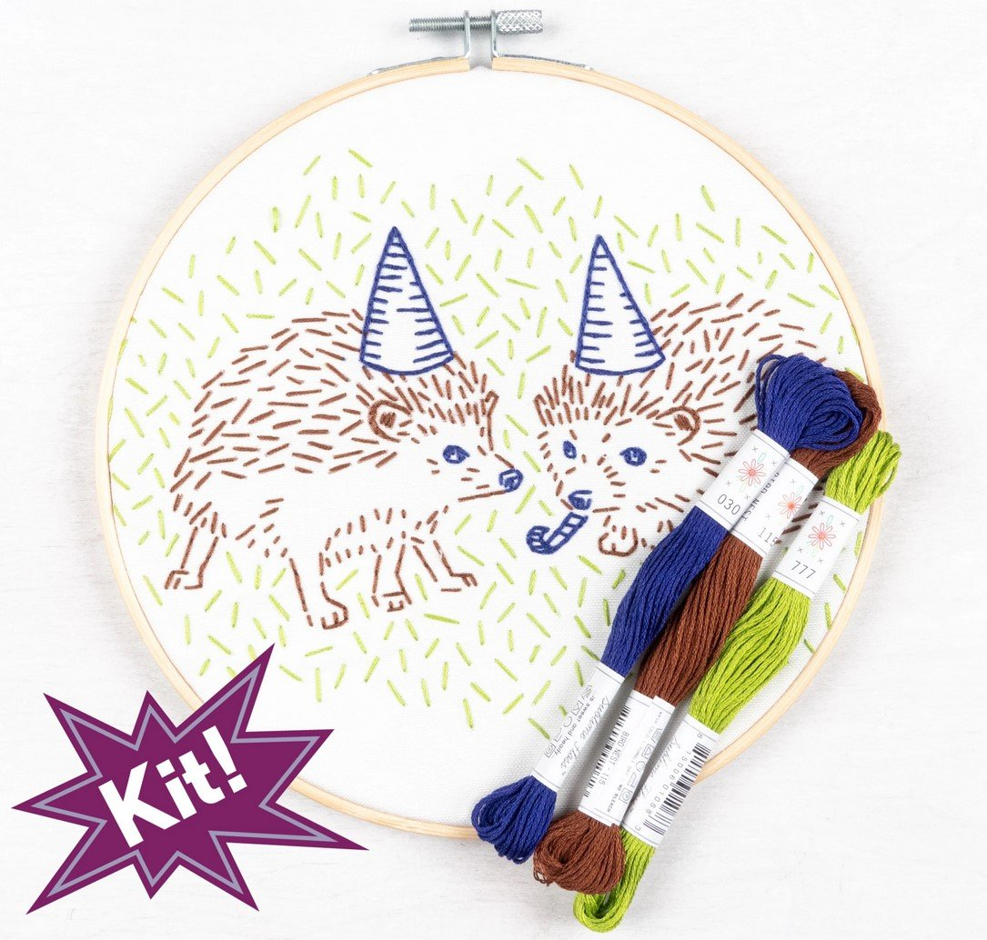 Hedgehog Party 8 Embroidery Kit