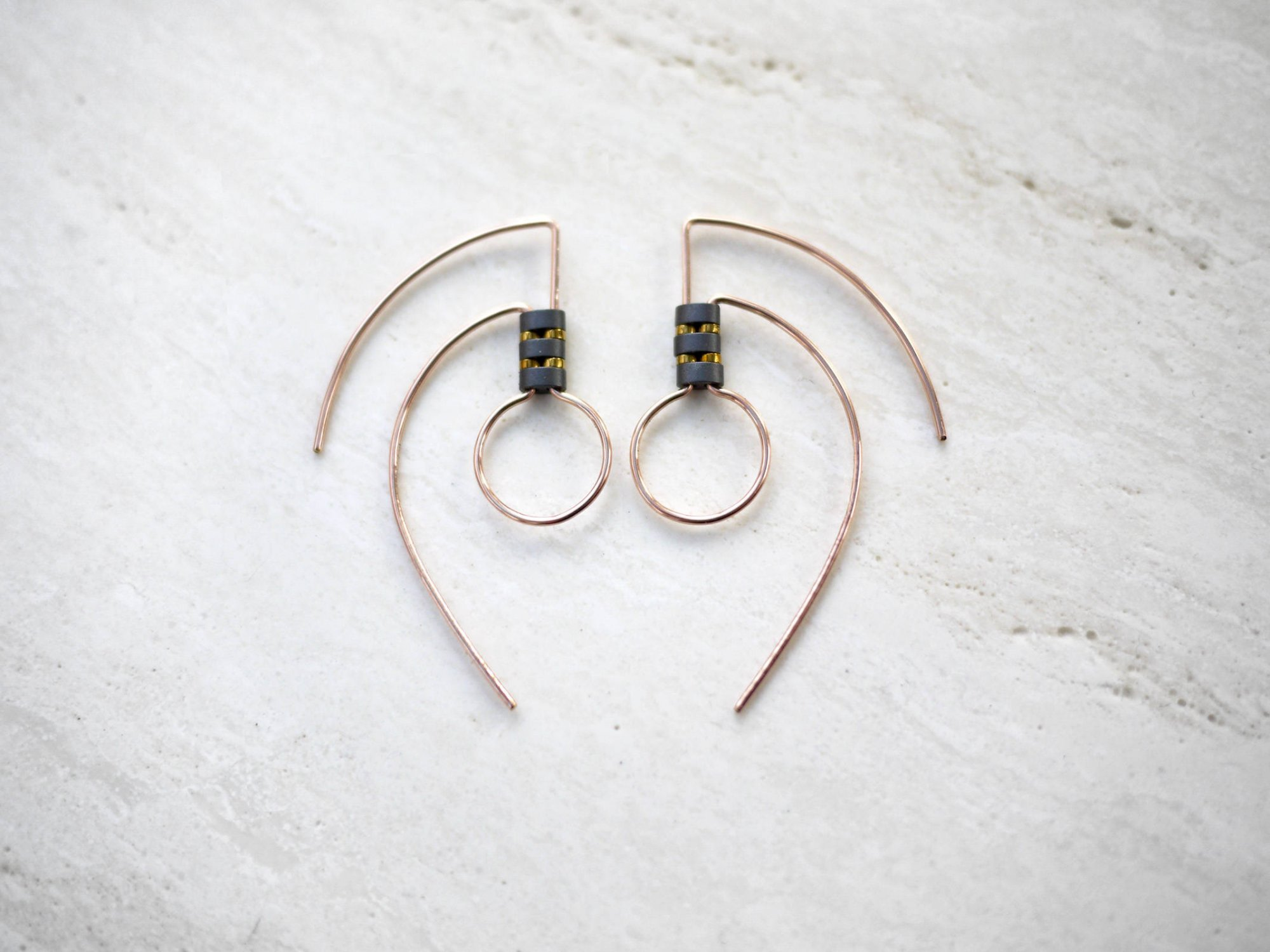Geo Tribal Circle YGF Earrings