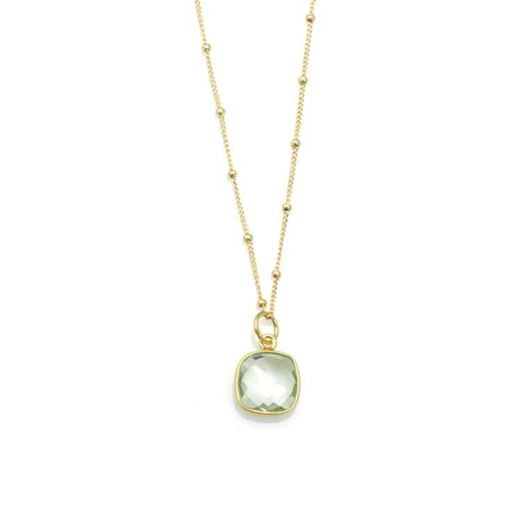 Green Amethyst Vermeil Necklace