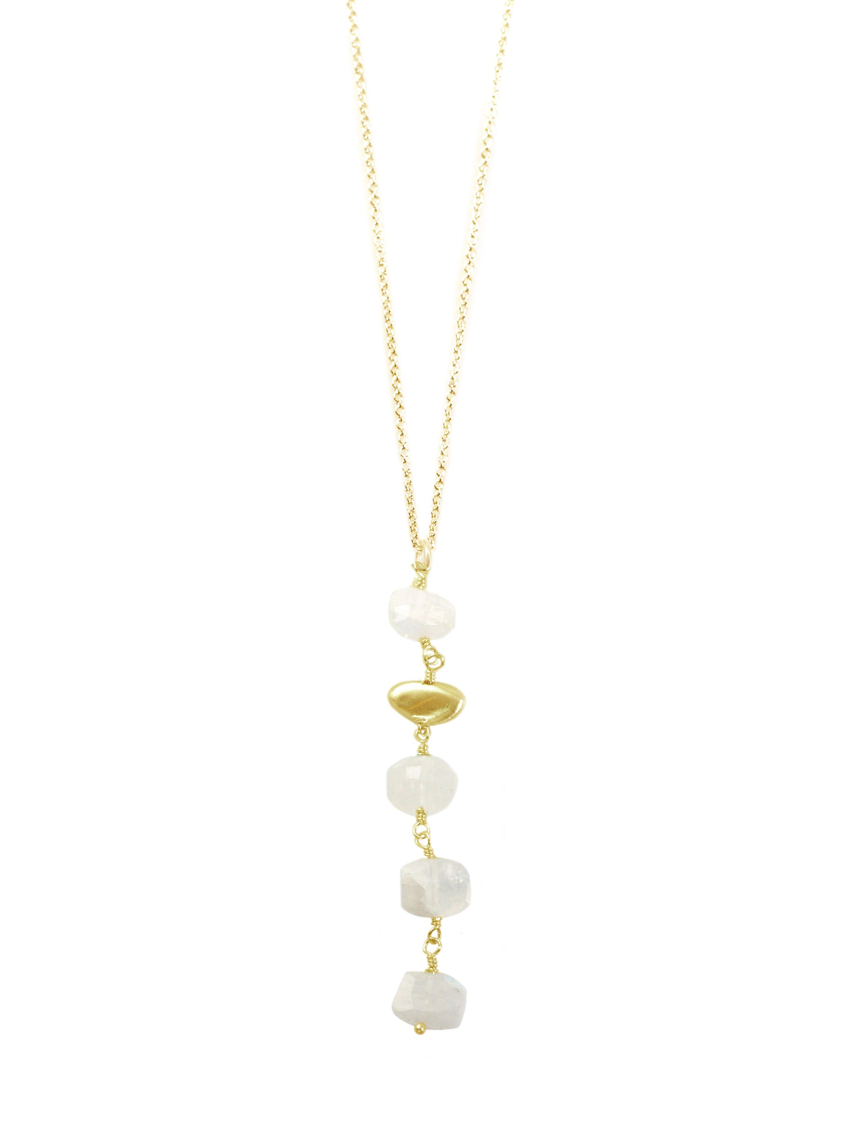 Pebble Moonstone Vermeil Necklace