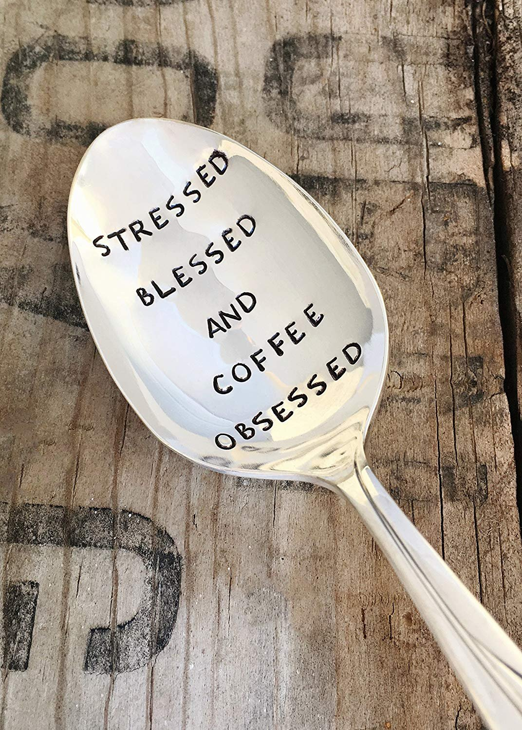 Stressed Blessed and Coffee Obsessed Teaspoon