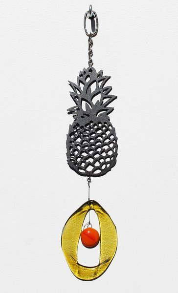 Metal Pineapple Glass Chime