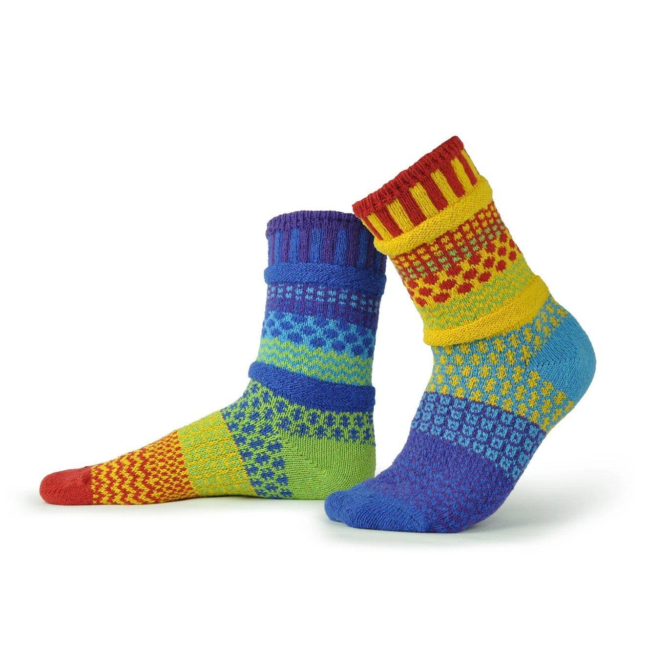 Rainbow Adult Crew Socks