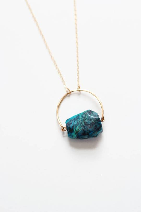 Arch Chrysocolla Necklace