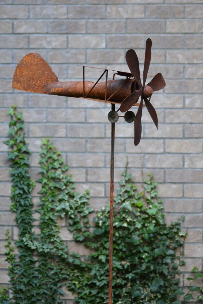 Biplane Garden Art Spinner