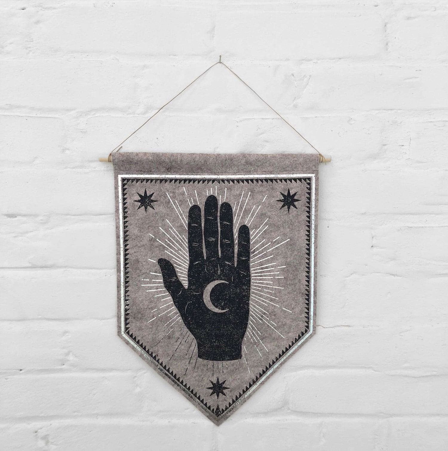 Moon Palm Felt Banner