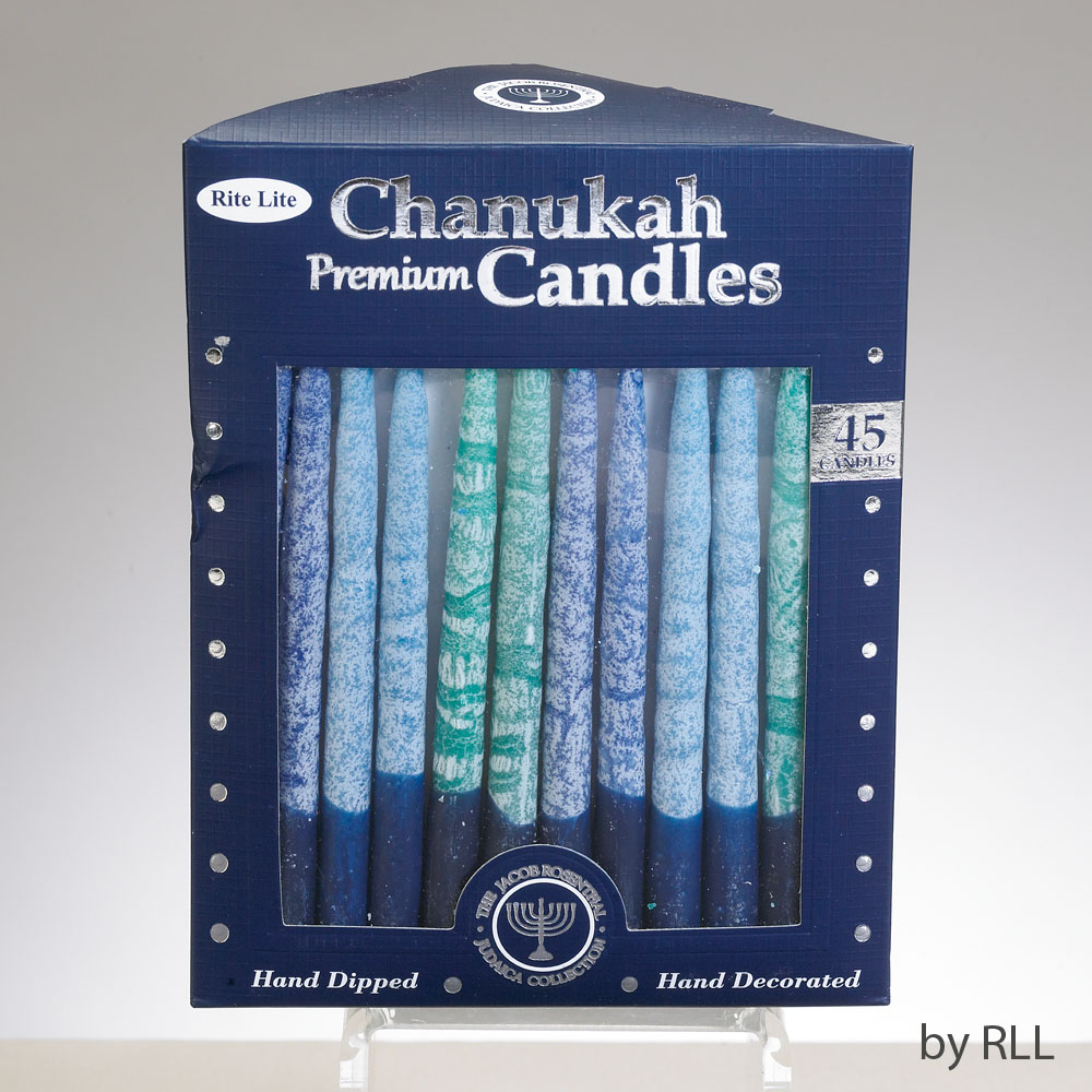 Frosted Chanukah Candles