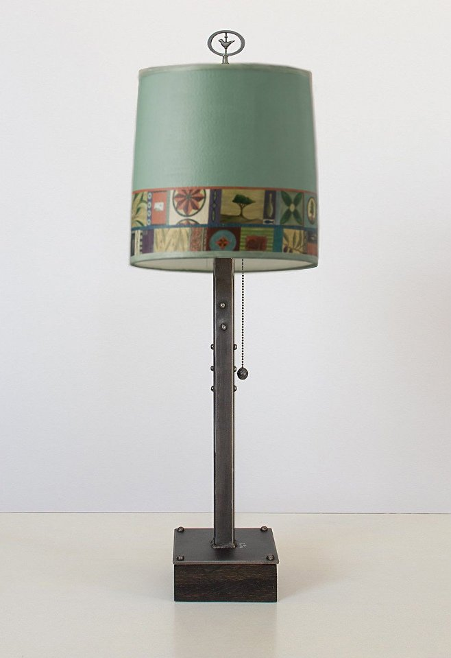 Tesserae Steel Base Table Lamp