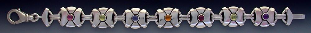 Sterling Silver Gems Bracelet BS-25