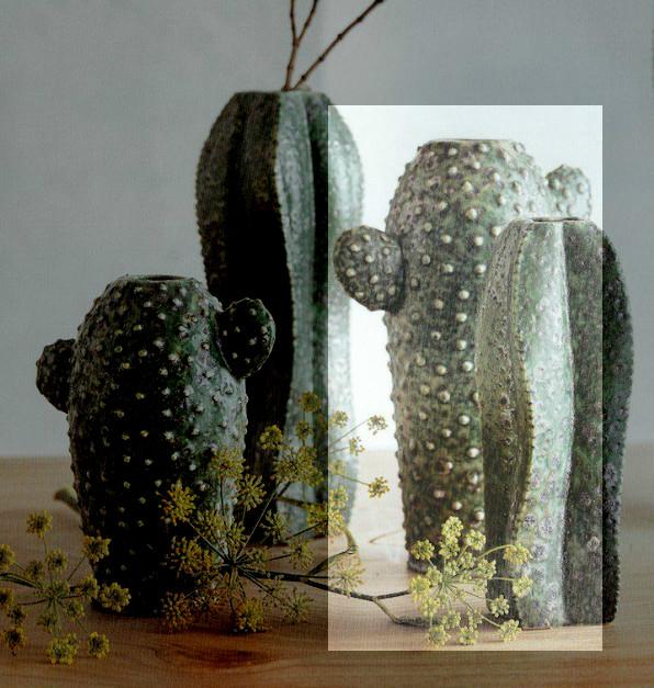 Large Saguaro Cactus Vase