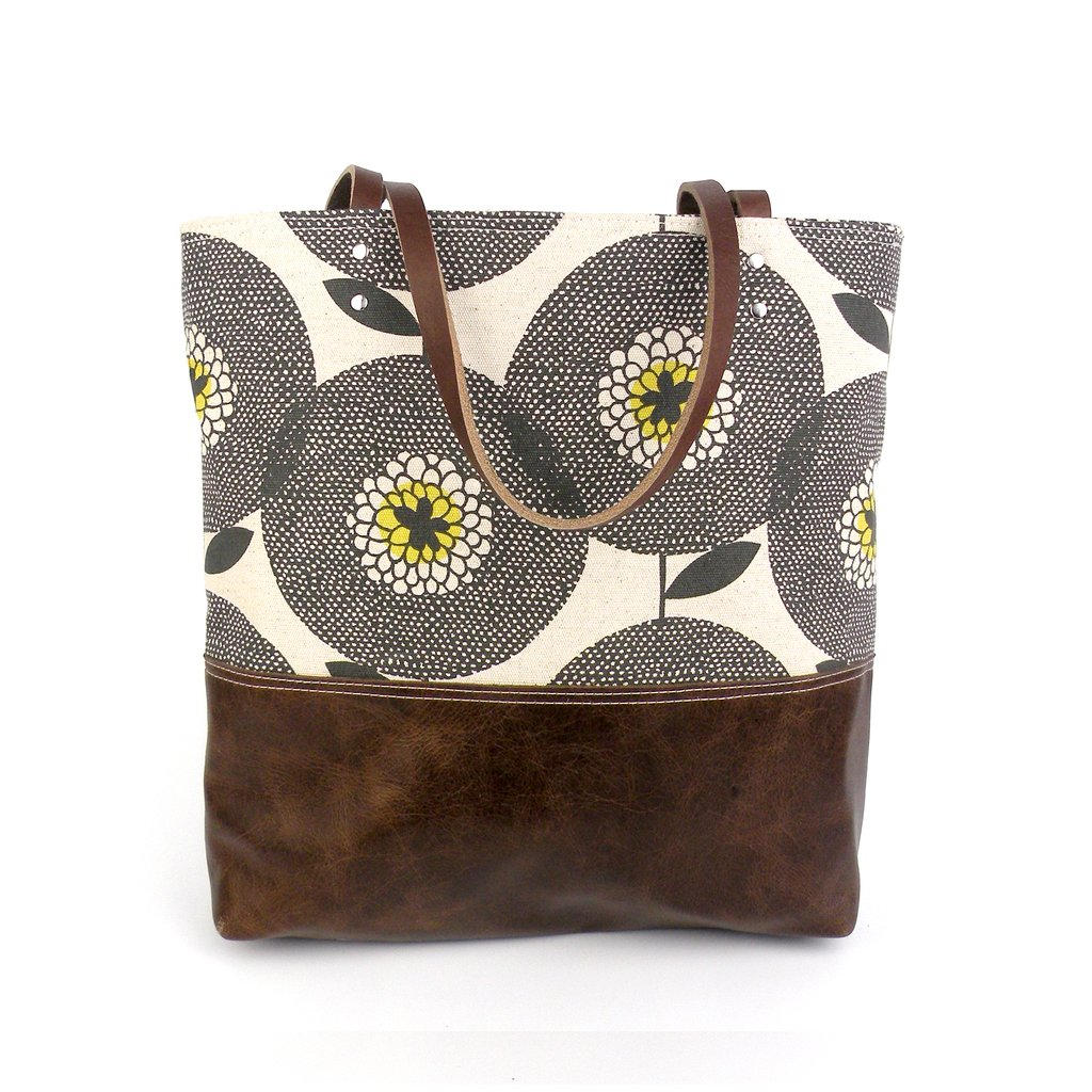 Urban Tote in Leather & Flowerfield