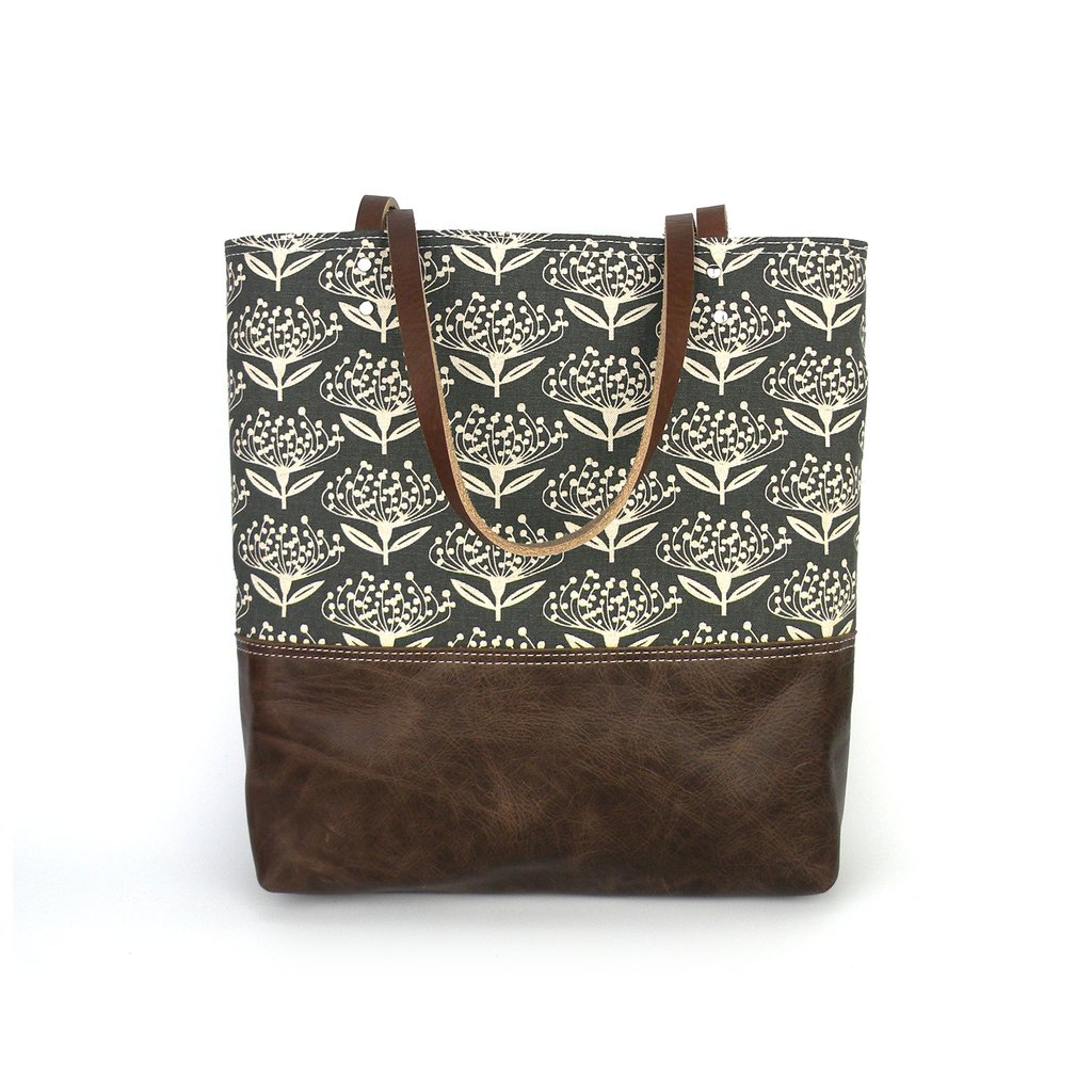 Urban Tote in Leather & Pincushion